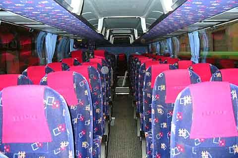 Пассажирский салон автобуса neoplan n116